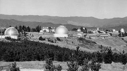 Photograph of Mount Stromlo Observatory held in the ANU Archives collection