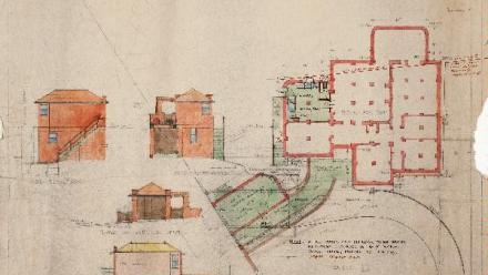 Newcastle Estate. Plan of residential flats, Memorial Drive and High Street for Australian Agricultural Company