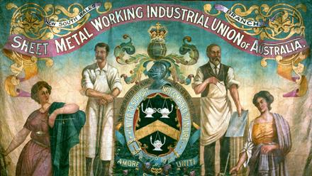 Sheet Metal Working Industrial Union parade banner