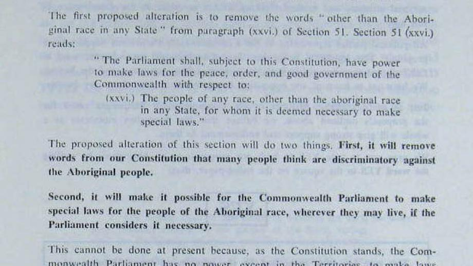 Referendum 1967 - Proceedings in Parliament and submissions of case