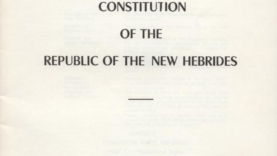 Constitution of the Republic of the New Hebrides