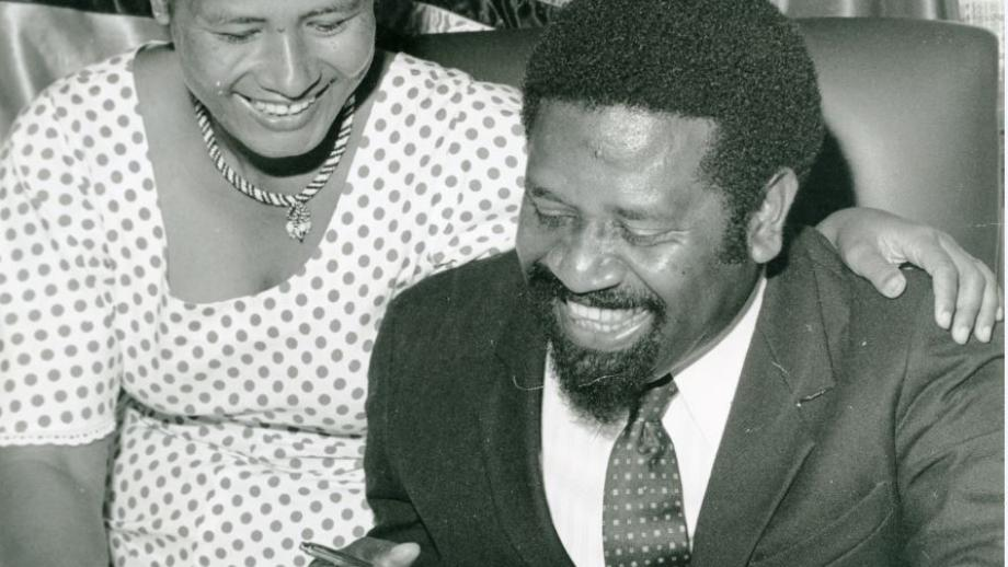 Prime Minister Walter Lini and Mary Lini, 1982