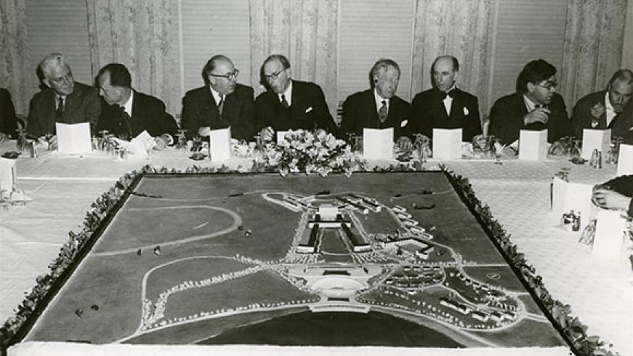 A dinner given by the Council to retiring members of Interim Council, in the Hotel Canberra, July 1951