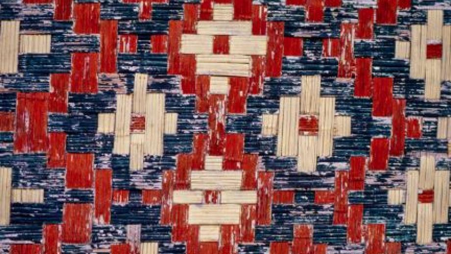 Nakamal Meeting House for Chiefs- detail of woven wall