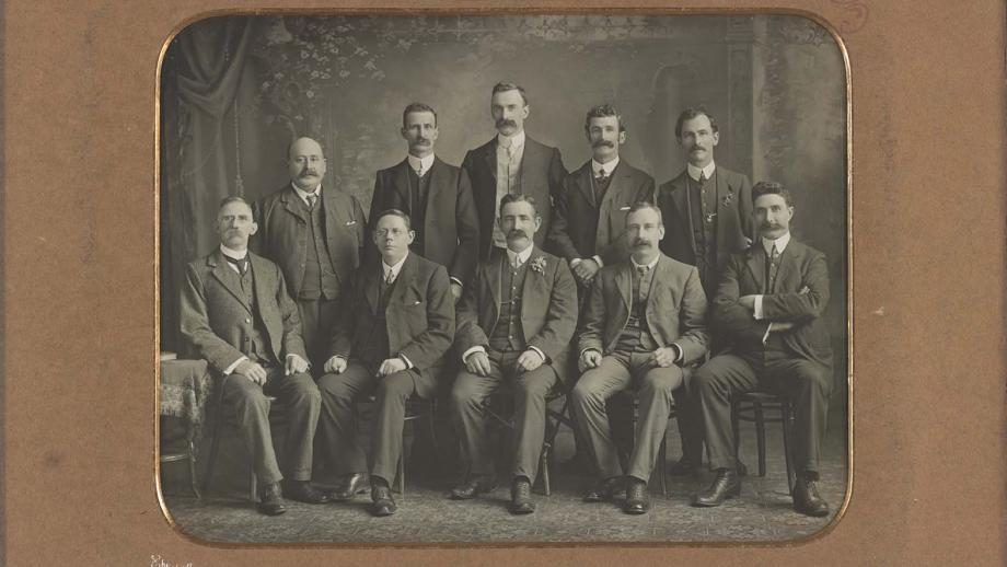 Australasian Assocation of Felt Hatters Tariff Committee, 1907 - photograph courtesy of State Library of Victoria