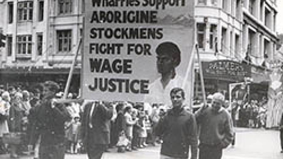 Wharfies Support Aboriginal Stockmen in Sydney's 1966 May Day Parade